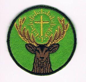 St Hubert of Liège Saint Hubertus Hunting Huntsmen Partron Patch Simbol GREEN
