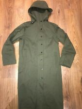 La Redoute Long Khaki Green Trench Coat Knee Length Size 8 Military Chic Jacket
