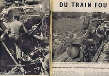 COUPURE DE PRESSE CLIPPING 1957 La Catastrophe du train fou Paris-Nimes   13 pgs