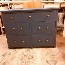 BESPOKE H85 W110 D35cm 3 x 2 x 2 CHEST OF DRAWERS F&B STIFFKEY BLUE EGGSHELL