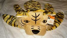 NWT Youth Plush Tiger headdress Costume hood hat mask Dress-up Halloween NEW 3+