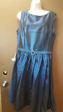 Sexyher Audrey Hepburn Style 1950's Rockabilly Swing Dress RBJ1401 Size 18 blue
