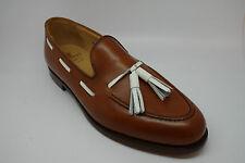 Crockett and Jones Langham Loafer Shoes in Tan Burnish Calf size UK 10EX
