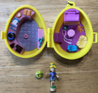 Polly Pocket 2001 Origin Products Easter Egg Doll Basket Bluebird Style