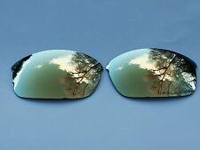 ENGRAVED POLARIZED 24k GOLD MIRRORED REPLACEMENT OAKLEY FLAK JACKET LENSES