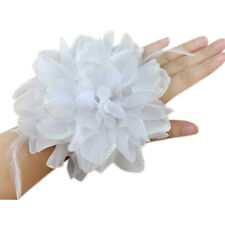 Women Hair Accessory Party Wedding Fascinator Feather Flower Brooch GZ