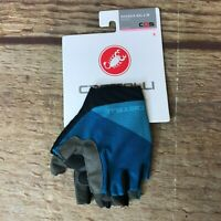 Castelli Cycling Womens Size Small Marine Blue Roubaix Gel 2 Gloves NEW *4520081
