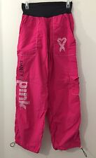 Zumba Fitness Party In Pink Womens M Exercise Pants Pink Breast Cancer Awareness