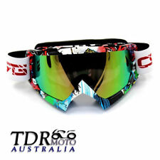 MX Graffiti Tinted lens Motocross Snowboard Ski MTB Off-Road Dirt Bike Goggles