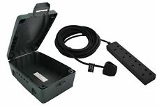 Masterplug WBXBFG10B-MP 4-Socket 10m Extension Lead with Weatherproof Box - Dark Grey