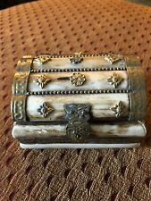 jewelery box With Brass Accent