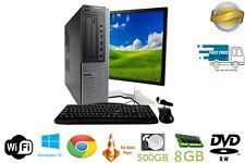 Cheap Fast Dell HP Lenovo Core i3 DESKTOP PC  LCD Monitor 4/8GB Win 10 Wifi