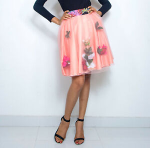 Pepperfruit African Print  Embellished Summer Party Skirt in Sizes UK10-to-UK18