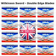 100 Wilkinson Sword Double Edge Cut Throat Safety Shaving Razor STAINLESS Blades