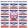 50 Wilkinson Sword Double Edge Cut Throat Safety Shaving Razor STAINLESS Blades