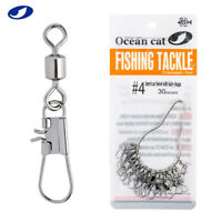 30-150 Pcs American Swivel with B Safety Snaps Fishing Kit Inter Hooked Tackle