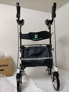 "BEYOUR WALKER Upright Walker, Tall Stand Up Rollator Walker, 10"" Front Wheel"
