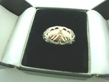 10K Sterling Silver Black Hills Gold Ring size 7 CCO
