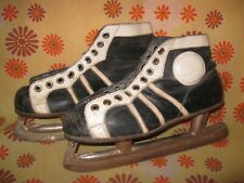 Vintage Ancienne PAIRE DE PATINS A GLACE GRAF CANADA T40 Hockey Patinage Skates