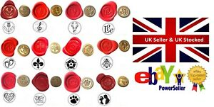 Wax Stamp Sealing COIN ONLY 400+ Wax Seal Design Choices (NO Handle or Wax) XWSC