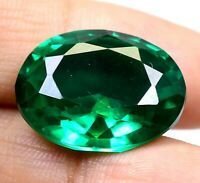 AAA Colombian 25.60 Ct Natural Green Emerald Oval Loose Gemstone Certified F4273