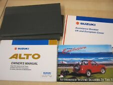 SUZUKI ALTO  OWNERS MANUAL - OWNERS GUIDE - HANDBOOK 1998-2004 ref M103
