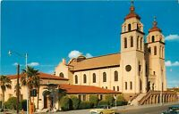 Chrome Postcard AZ I402 Phoenix St Marys Catholic Church 3rd St Mission Style