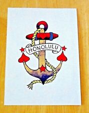 PAPERCHASE, LONDON ~ TIKI LOUNGE PRINTED POSTCARD ~ HONOLULU ANCHOR ~ NEW