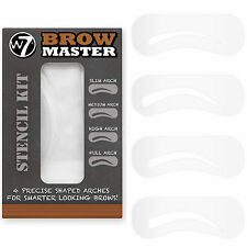 W7 4-precise Shaped Brow Master Arches Stencil Kit