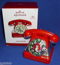 Hallmark Magic Christmas Ornament Santa's Hotline 2013 Telephone Sound Motion