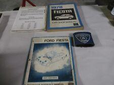 1978 FORD FIESTA SERVICE SHOP REPAIR MANUAL & BODY/ELECTRICAL SET FACTORY OEM