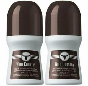 (2 Pack) Avon Wild Country Roll-On Anti-Perspirant Deodorant - 2.6oz Each