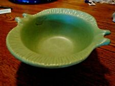 Vintage Bauer California Calif U.S.A Moonsong Green colored Pottery Bowl