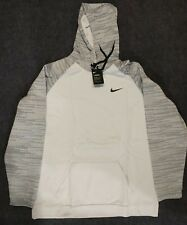 NIKE Men's Thermal Pullover Training Hoodie Pure Platinum/Black Size 4XL Tall