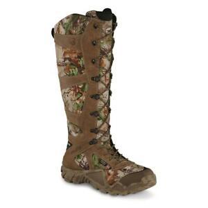 New Irish Setter Men's VaprTrek Waterproof 17 in Snake Hunting Boots Mossy Oak