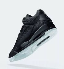 Air Jordan Iii Retro Flyknit AQ1005-001 Black Size UK 8.5 EU43 US 9.5 Nuevo