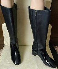 Very beautiful boots MARINA RINALDI Woman, dark blue - gray, size 40, leather