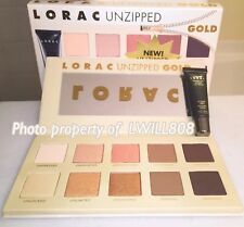 LORAC UNZIPPED GOLD PALETTE Matte & Shimmer + Mini Eye Primer 100% AUTHENTIC NIB