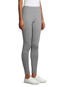 No Boundaries Juniors Soft Full Length Ankle Leggings Size LARGE (11-13) Gray