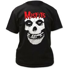 LICENSED Official Red Skull Logo Misfits T-Shirt New Adult Black Impact IM-MIS05