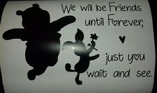 Winnie the Pooh and Piglet Friends Forever Wall Vinyl Sticker