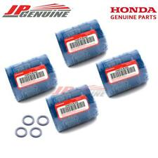HONDA ACURA ENGINE OIL FILTER GENUINE ORIGINAL FACTORY KIT LOT PACK 4 WASHER NEW