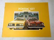 Advertising Brochure 1977 Pontiac Sunbird Astre Chev Car Dealer Advertising