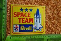 Alter Aufkleber Modellbau SPACE TEAM REVELL