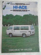 TOYOTA Hiace Minibus Pullman da Walker OPUSCOLO 1986