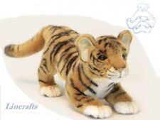 Crouching Tiger Cub  Plush Soft Toy Wildcat by Hansa 6414
