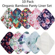 10 Pack Organic Bamboo Panty Liner Mama Cloth Menstrual Pads Reusable Sanitary