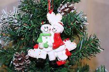 Personalizzata albero di Natale Decorazione Ornamentale NEVE SWEETHEARTS