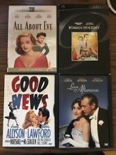 54 - Lot Of 4 Classic Movie Dvd's All About Eve, Roman Holiday, Love In The