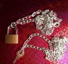 Lock And Key Necklace Set